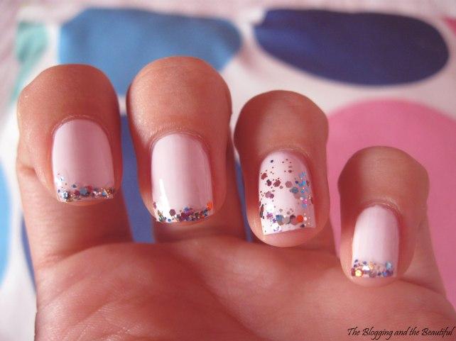 sparkly manicure essie essence