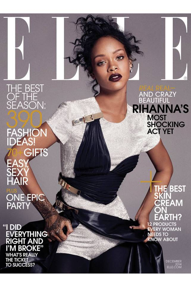 rihanna elle usa december cover
