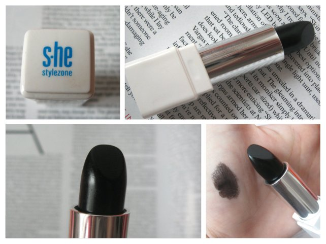 makeup addict tag black lipstick