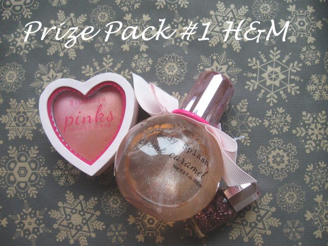giveaway christmas h&m opi mistery blusher nail polish body spray