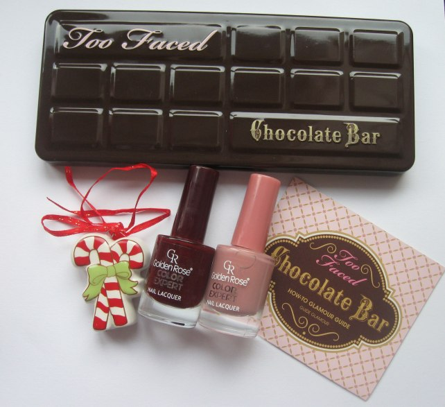 too faced chocolate bar golden rose nail polish