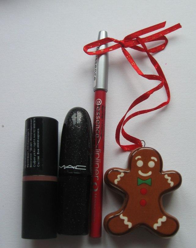essence mac lipstick lipliner red christmas december