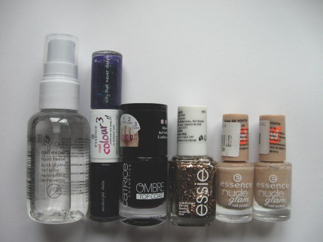 new in shopping makeup  avon essie essence catrice nail polish